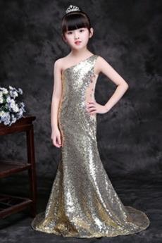 Elegantna Zadrgo navzgor Dolga Paillette steznik Majhna punčka obleko