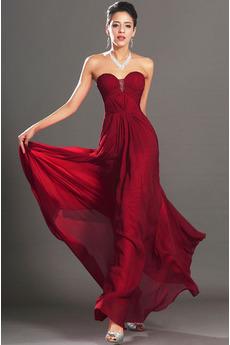 Elegantno Mid nazaj Jabolko Imperij Naravni pasu Večerne obleko