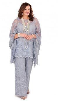 Hlače obleka Široko plitvo izrez z pants Mati obleko s hlačami