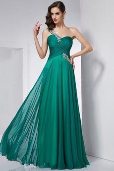 Brez zadnjega dela Šifon Elegantno Naravni pasu Maturantske obleko