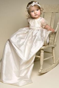 Appliqués Dragulj Taffeta Poudarjen lok Princesa Krst Obleko