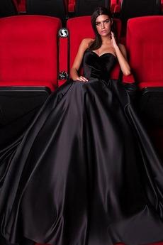 Brez zadnjega dela Brez rokavov Satin Ball Maturantske obleko