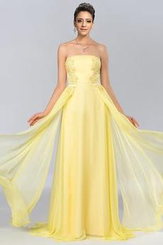 Brez zadnjega dela Pomlad Naravni pasu Elegantno Prom Obleko