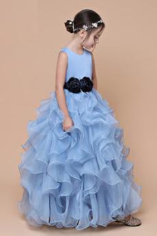 Formalno Srednje Prikaži Poletje Gleženj dolžina Cvet dekle obleko