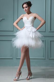 Naravni pasu Zabuhle Romantični Brez rokavov Maturantske obleko