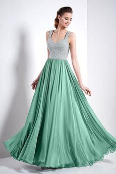 Formalno Široka trakovi Dolžina tal dragulji steznik Prom Obleko