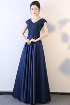 Brez zadnjega dela Elegantno A Vrstica Gleženj dolžina Maturantske obleko