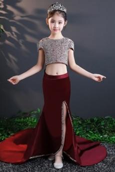 Elegantna Naravni pasu dragulji steznik Zapertlati Cvet dekle obleko