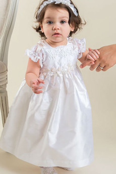 Lok Satin Formalno Pomlad Naravni pasu Poudarjen lok Otroka obleko