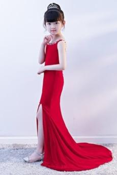 Elegantna Morska deklica Padec Brez rokavov Cvet dekle obleko