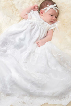 Poletje Poroka Princesa Imperij pasu Lok Balon rokavi Otroka obleko