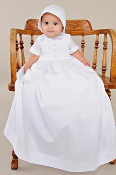 Gumb Dolgo banket Princesa Formalno Visoko vratu Otroške obleko