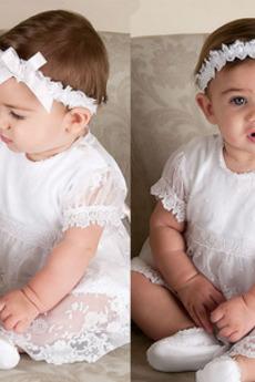 T-majica Dolžina čaj Formalno Visoko zajeti Kratkimi rokavi Otroške obleko