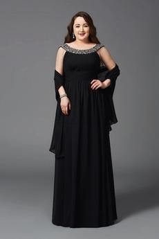 A Vrstica Naravni pasu Šifon Formalno dragulji steznik Maturantske obleko