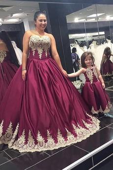 Dolga A Vrstica Zapertlati Ball Naravni pasu Maturantske obleko