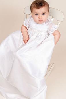 Formalno Visoko zajeti Kratkimi rokavi Visoko vratu Otroške obleko