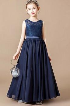 Čipke Izvedba Dragulj A Vrstica Naravni pasu Cvet dekle obleko