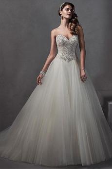 Brez naramnic A Vrstica Dolga Art svile Zadrgo navzgor Poroka Obleko