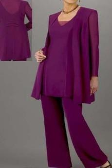 Šifon T-majica Naravni pasu Hlače obleka Mati obleko s hlačami