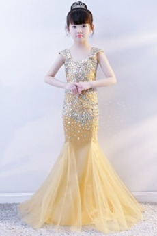 Elegantna Morska deklica dragulji steznik Izvedba Cvet dekle obleko