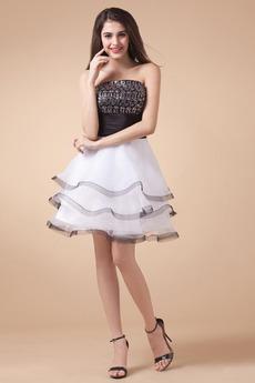 Elegantna Princesa Dolžina kolena Poletje Petite Večerne obleko