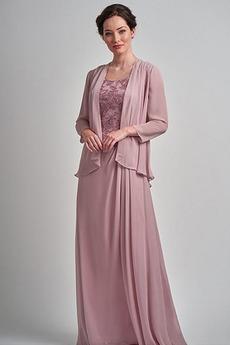 Zajemalka Šifon Banket Srednje Naravni pasu Elegantno Mati obleko