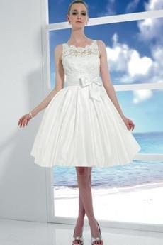 Princesa Elegantna Zabuhle Dragulj Pravokotnik Poročne obleko