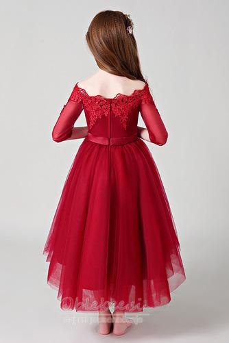 Visoka nizka Gugalnica Elegantno Asimetrični Cvet dekle obleko - Stran 2