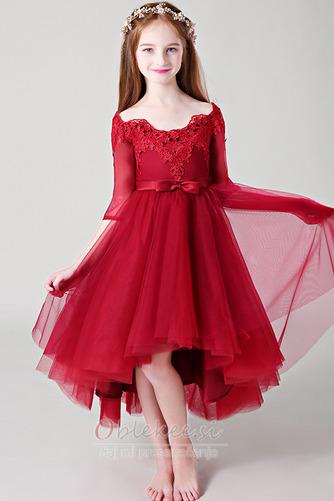 Visoka nizka Gugalnica Elegantno Asimetrični Cvet dekle obleko - Stran 1